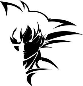Vinyl Decal Truck Car Sticker Laptop - Dragon Ball Z Super Saiyan Goku v4