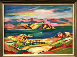 LAKE SEVAN- Art Painting RUSSIAN ARMENIAN artist- ALEXANDER GRIGORYAN Grigorian