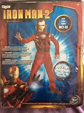 NEW Disguise Iron Man 2 Halloween Costume Mask Sz Medium 7-8 Mark VI Suit