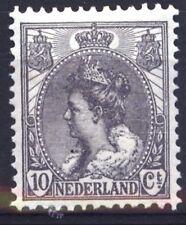 OLANDA 1898 / 1906 REGINA GUGLIELMINA 10 CENT. GRIGIO  MLH *  (49)