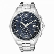 Citizen Herrenuhr Uhr Eco-Drive Funkuhr Titan Titanium Chrono Saphirglas AT8130-