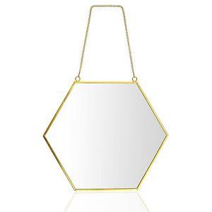 30cm Sechseck Spiegel Wandspiege Handgefertigter Badspiegel Facettenspiegel