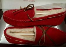 Flat (0 to 1/2 in.) Suede Moccasins Slippers for Women