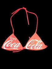 Coca-Cola Red Enjoy Coca-Cola Bikini Swim Top Size Medium Lined