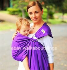 WALKABOUT SLING RING baby carrier pouch cotton NEWBORN TO TODDLER purple RRP$59