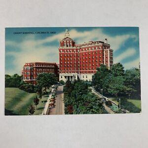 Vintage Postcard Cincinnati Ohio Christ Hospital Linen Unposted