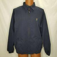 Vintage Chaps Ralph Lauren Jacket Harrington Dark Blue Size Large Full Zip