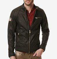 Buffalo David Bitton men's jacket size xl motorcycle design slim fit