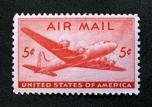 US Stamp Scott #C32 ~ DC-4 Skymaster 5c 1946 Airmail MH GR07