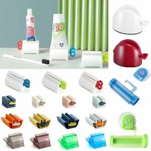 4X Toothpaste Dispenser Tube Squeezer Cream Extract Rolling Press Tube Roller AU