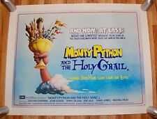 RARE MONTY PYTHON AND THE HOLY GRAIL 1975 UK QUAD NM LINEN BACKED POSTER