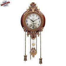 Reloj De Pared Fino Elegante Para Casa Negocios Pendulo Estilo Vintage Calidad