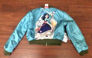 Disney's Mulan Girls 5-6 Reversible Zipped Satin Jacket NWOT