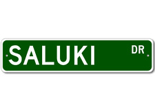 Saluki Street Sign - High Quality Aluminum Dog Breed Sign