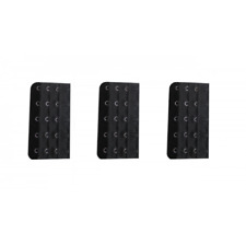 3 rallonges extension soutien gorge noir - 5 crochets , accessoire lingerie