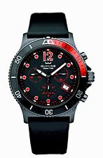 NEW Glycine Combat Sub Swiss Chronograph Black Rubber  Watch 3915.99.D9  $600.00