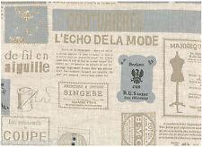 Tissu 100 % Lin - Patchwork, Cartonnage, Sac, Deco - Vendu par 20 cm -La Couture