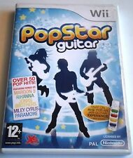 POPSTAR GUITAR for Nintendo Wii - with box & manual - PAL