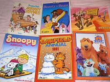 6 LIBRI Snoopy, Garfield, Blue Bear, beauty beast, Nursery Rhymes