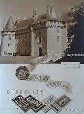 PUBLICITE NESTLE GALA PETER CHATEAU DE POMPADOUR CORREZE DE 1938 FRENCH AD RARE