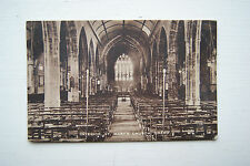St Mary's Church Interior, Chard - Vintage RP Postcard, Somerset - Unposted.