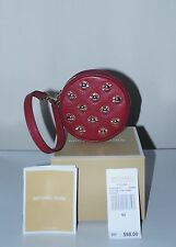 NWT MICHAEL KORS STUDDED SMALL COIN PURSE / CHERRY