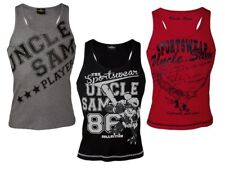 (Z) Uncle Sam Herren Muskelshirt Muskel T-Shirt Sport Shirt Tank Top NEU