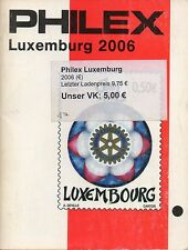 Philex - LUXEMBURG 2006 katalog  - 2 scans