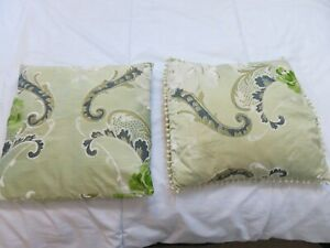 HAND MADE TWO DESIGNERS GUILD MADDALENA JADE SILK CUSHION COVERS SQUARE 40 CMS