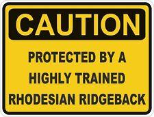 Chien race rhodesian ridgeback prudence autocollant animal pour pare-chocs porte voiture locker