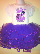 My Little Pony Party Dress Birthday Twilight S 2pc tutuset 1T,2T,3,4,5,6,7,8,9
