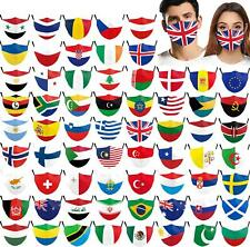 National flag Funny Washable Facemask Half Face Mouth Mark HipHop Cospaly Party