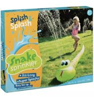 New Splish Splash Snake Sprinkler 2m Outdoor Kids Fun Perfect Summer Gift