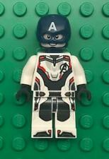 Lego Captain America Minifig lot: Super Hero Figure White Jumpsuit, Helmet 76123