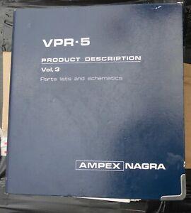 AMPEX NAGRA VPR-5 MANUAL PARTS LIST & SCHEMATICS