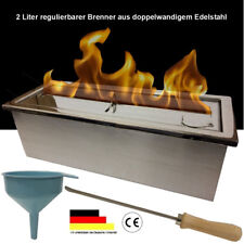 Ethanolbrenner regulierbar 2 Liter Brenner V2A doppelwandig Ethanol Brenngel