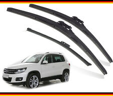 "VW TIGUAN 2007-2015 Full Set of 3 wiper blades front and rear 24""21""TL 13""V"