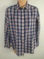 WOMENS JACK WILLS PINK BLUE CHECKED LONG SLEEVE BUTTON UP BLOUSE SHIRT TOP UK 8