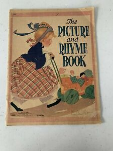 Vintage 1941 Children's Book THE PICTURE AND RHYME BOOK Fern Bisel Peat