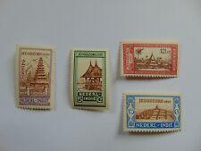 Komplettsatz (*) Niederl. Indien Juegdzorg Einheimische Häuser 1930 Mi 174 ff.