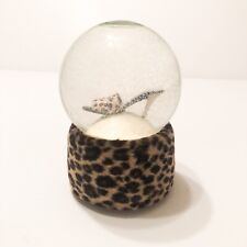 Glitter Snow Globe Leopard Print Shoe Musical Tune Material Girl Wind up Music
