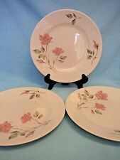 """3 Knowles Dawn Rose Dinner Plates 10-1/8"""" Designed by Kalla Oven Proof U.S.A."""