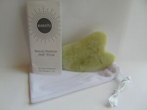 Hayo'u BEAUTY RESTORER PRECISION JADE FACIAL CONTOURING TOOL New with Pouch