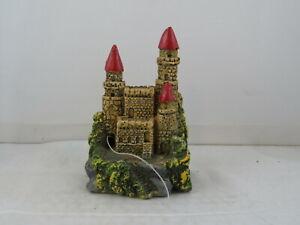 Vintage Aquarium Ornament - Small  Medieval Castle by Fritz - Hand Painted