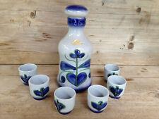 STREHLA Likör Set / Mid-Century Vintage East-Germany Pottery / sign 1440 + 1447