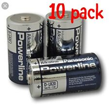 10X Panasonic D Size Industrial Alkaline Batteries LR20 Cell Power Mono Procell