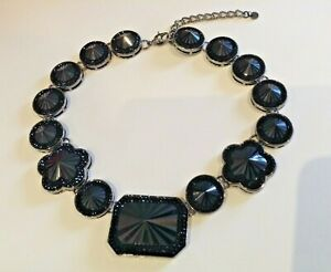 Butler & Wilson Black Stone Choker Necklace New Boxed