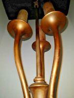 VTG 3-Light Art Deco Arts & Craft Mission Table Lamp Base w/ 3-Stars 1900-1940