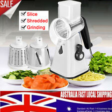 AU Kitchen Multifunction Vegetable Food Manual Rotary Drum Grater Chopper Slicer