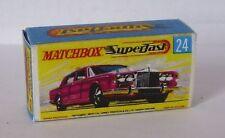 Repro Box Matchbox Superfast Nr.24 RR Silver Shadow